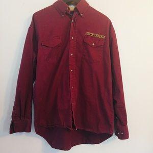 Vintage Wrangler Button Down Shirt. Large
